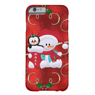 Christmas Snowman iPhone 6 barely there case