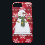 "Christmas snowman iPhone 7 barely there case<br><div class=""desc"">design by Cheryl Seslar at www.digiwebstudio.com back by originalartwork@delightful-doodles.com</div>"