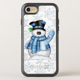 Christmas snowman iPhone 7 phone case