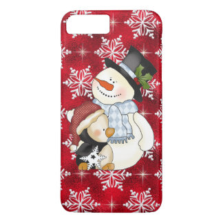 Christmas snowman iPhone 7 plus barely there  case