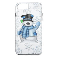 Christmas Snowman iPhone 7 plus tough case