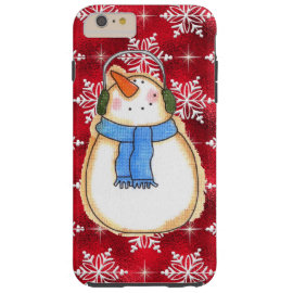 Christmas snowman iPhone six plus tough case