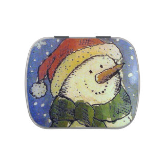 Christmas Snowman Jelly Belly Tins