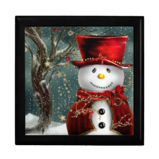 Christmas Snowman Jewelry Box