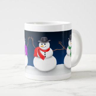 Christmas Snowman Jumbo Mug 20 Oz Large Ceramic Coffee Mug