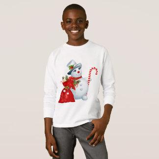 Christmas Snowman Kids Longsleeve T-Shirt