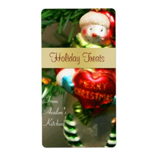 Christmas Snowman Kitchen Treat Baking Label