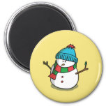 Christmas Snowman Magnet Fridge Magnet