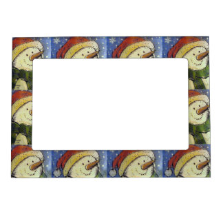 Christmas Snowman Magnetic Picture Frame