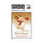 Christmas Snowman Medium Postages Postage Stamps