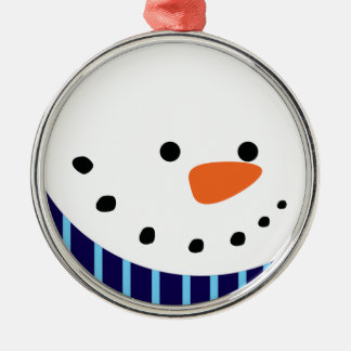 Christmas Snowman Metal Ornament