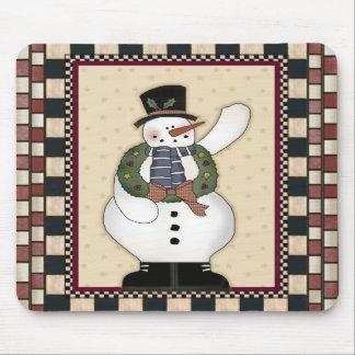 Christmas Snowman Mousepad