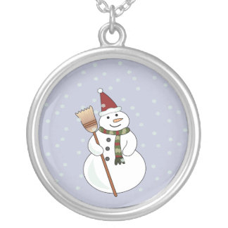Christmas Snowman Necklace