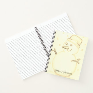 Christmas snowman notebook