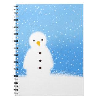Christmas snowman notebook
