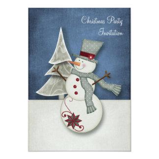 Christmas Snowman Party Invite