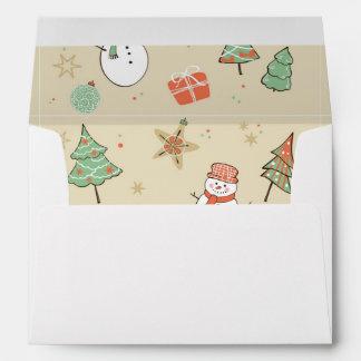 Christmas snowman pattern envelope