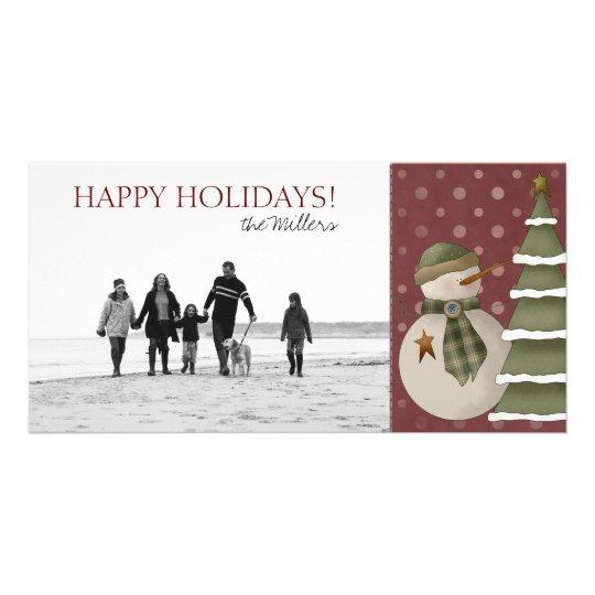 Christmas Snowman Photo Cards