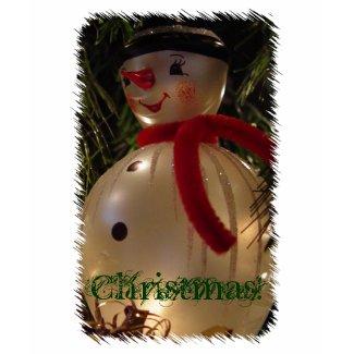 Christmas Snowman Photo Sweatshirt shirt