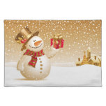 Christmas Snowman Placemate Cloth Placemat