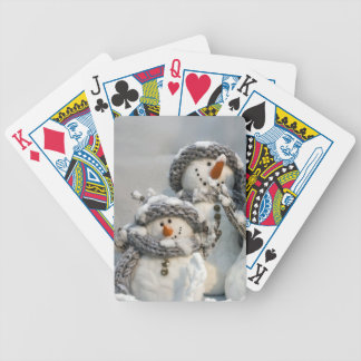 Christmas snowman bicycle playing cards