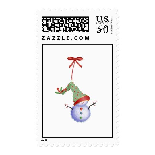 Christmas Snowman Postage