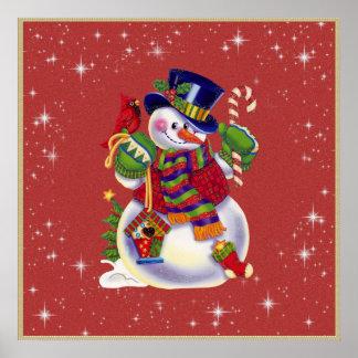 Christmas Snowman Poster