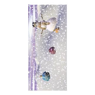 christmas snowman rack card