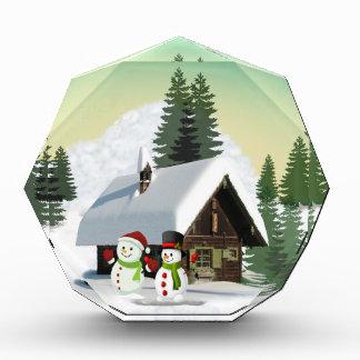 Christmas Snowman Scene Award