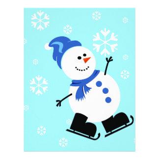Christmas Snowman Scrapbook Paper