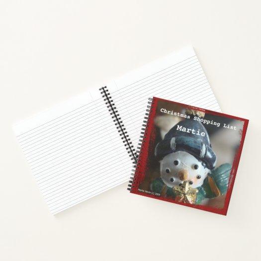Christmas Snowman (Shopping List) Spiral Notebook