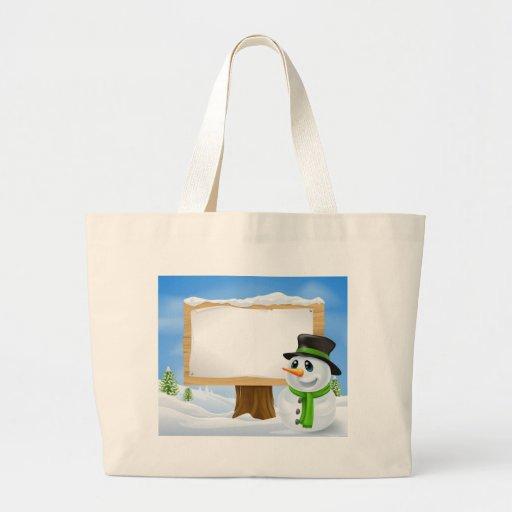 Christmas Snowman Sign Bags
