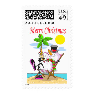 Christmas Snowman Stamps (medium size)