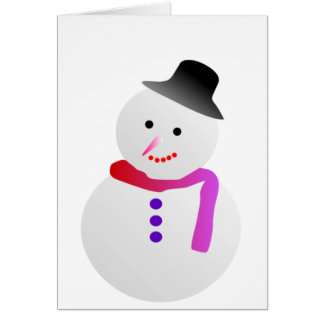 Christmas Snowman Stationery Note Card