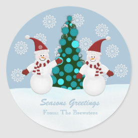 Christmas Snowman Stickers sticker