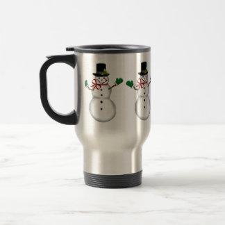 Christmas Snowman Travel Mug