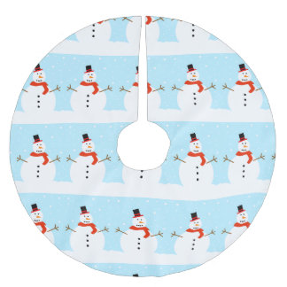 Christmas Snowman Tree Skirt