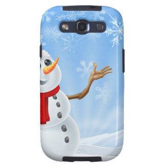 Christmas Snowman winter landscape Samsung Galaxy SIII Covers