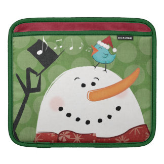 Christmas Snowman with Bird iPad Sleeve