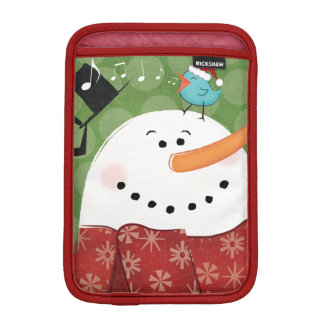 Christmas Snowman with Bird Sleeve For iPad Mini