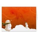 Christmas snowmen1 greeting cards