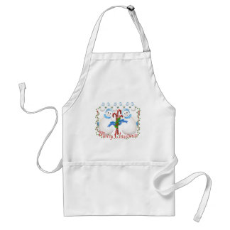 Christmas Snowmen and Candy Canes Apron