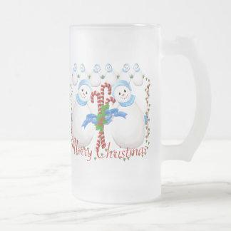 Christmas Snowmen and Candy Canes Mug