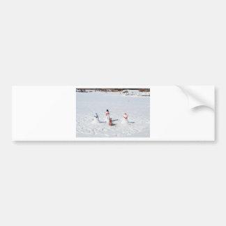 Christmas Snowmen Bumper Sticker