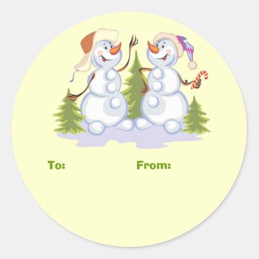 Christmas Snowmen Gift Stickers