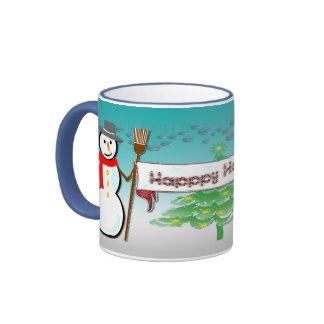 Christmas - Snowmen, Happy Holidays Mug