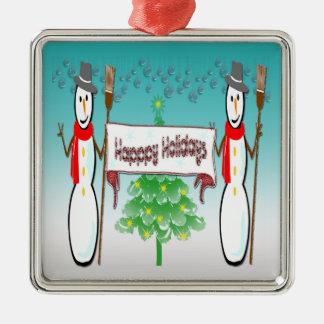 Christmas - Snowmen, Happy Holidays Ornament