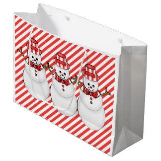 Christmas Snowmen Holiday large gift bag
