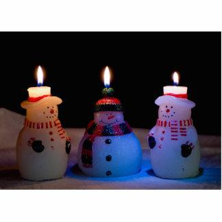 Christmas Snowmen Photo Sculpture