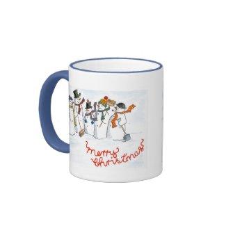 Christmas Snowmen Ringer Mug mug